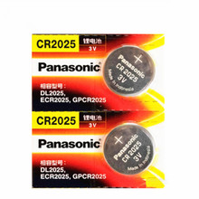 2 X original brand new battery for PANASONIC cr2025 3v button cell coin batteries for watch computer cr 2025