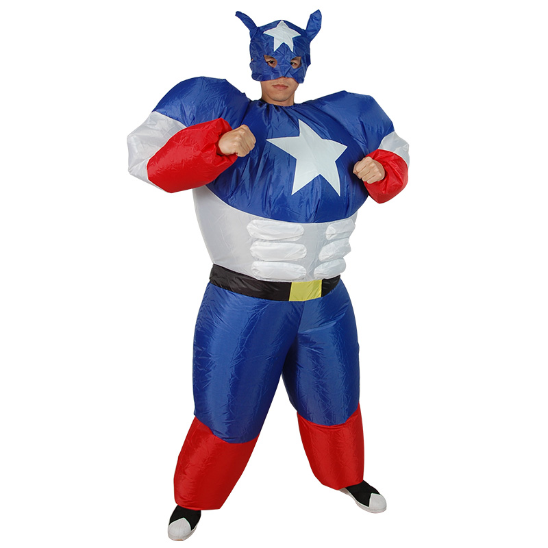 Inflatable Captain America Mascot Cosplay Costume