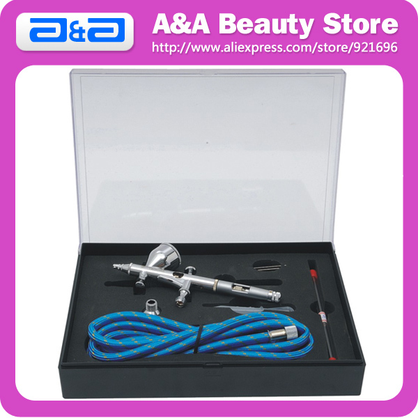 180S Dual Action Airbrush Kit with Air Hose, Sucker, Wrench, Connector CE certificated!  Free Shipping by CPAM<br>