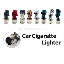 Universal Car Heater Personalized Cigarette Lighter Car Electronic Cigarette Lighter Plug Skull Design Tobacco Lighter DC12V