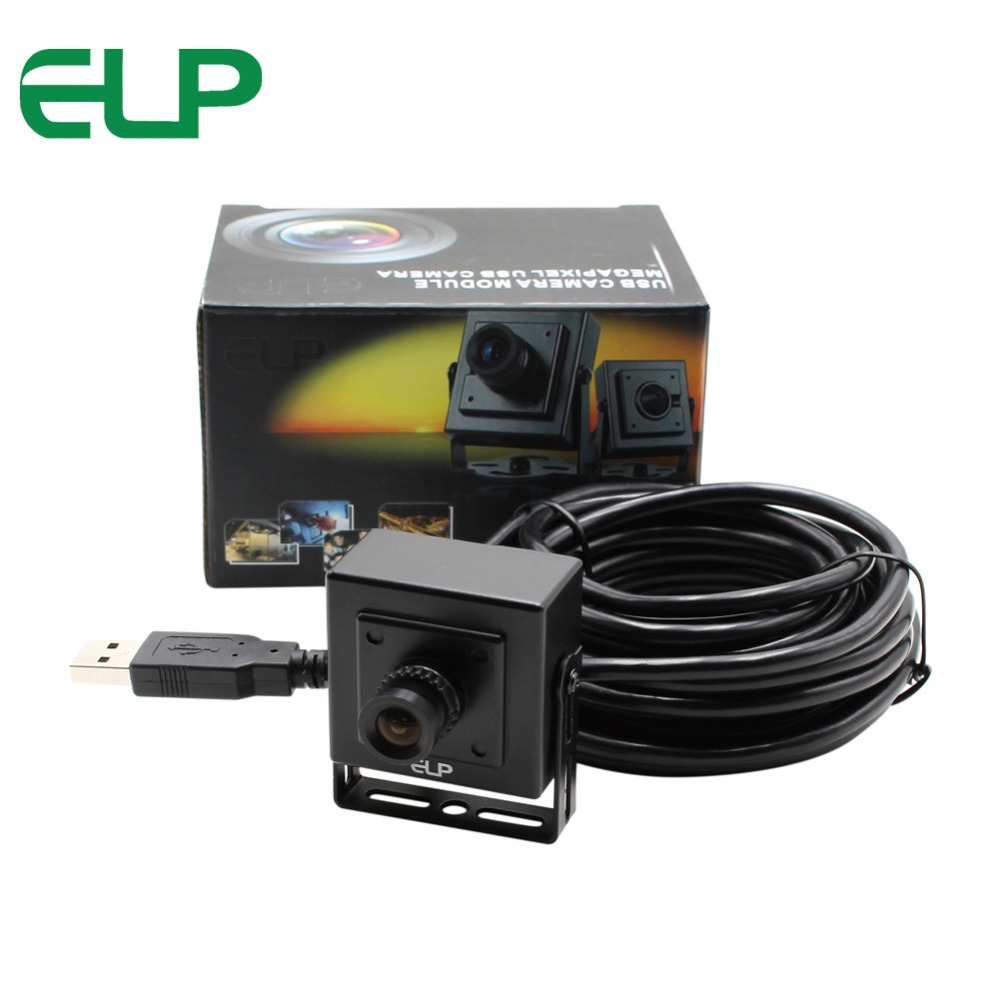Wholesale black aluminum mini case 0.3MP 640X480P VGA  MJPEG 30FPS cmos ov7725 usb 2.0  android UVC camera  ELP-USB30W04MT-BL28<br>