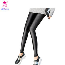 Autumn And Winter With Thick Outer Cashmere Wearing Leggings Pants Black Lady Winter Warm Big Shiny Pants  2016