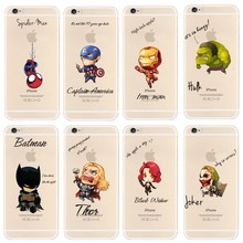 New Arrival Case For iPhone 6s 6 Cool Marvel's The Avengers Pattern Cover For Apple iPhone 6 6S 4.7'' Phone Back Coque Fundas