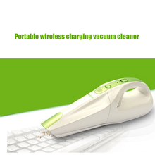 1PC New and high quality  Ultra Quiet Mini Home&Car hand held Vacuum Cleaner Portable  Wireless charging Dust Collector