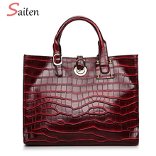 Buy Luxury PU Leather Women Handbags Large Capacity Crossbody Bags Women Bag Crocodile High Ladies Tote Bag Sac Feminine for $20.56 in AliExpress store