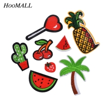 Hoomall 8PCs Mixed Iron On Patches For Clothes Cartoon Party Motif Badges Embroidered DIY Clothes Ornaments Sewing Accessories