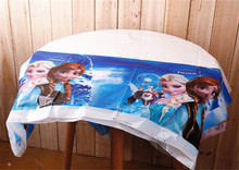 1pc 180*108cm Cartoon Anna Lisa Disposable Table Cloth Table Cover Plastic Tablecloth Nursery Birthday Party Supplies