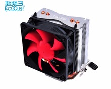 Pccooler S80 cpu cooler 8cm silent fan 2 copper heat pipes CPU cooling radiator for AMD Intel 775 115x cpu fan quiet and bargain