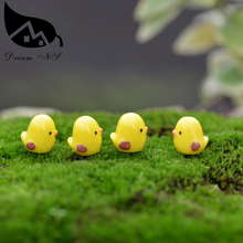 (Min order $ 2) Decoration moss micro landscape landscaping cartoon mini potted yellow chick Desktop Accessories