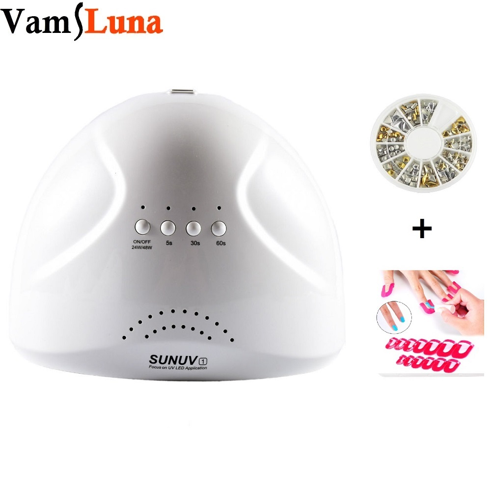 48W Nail Dryer Sunone - LED UV Lamp + Profile Edge + Manicure Decor Sticker For Gel Curing<br>