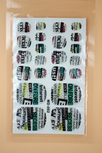 MD002 2015 Fashion Beauty Product 3d Toe Nail Art Foil Stickers Green English Letters Designer Manicure Auto Adhesive Decals