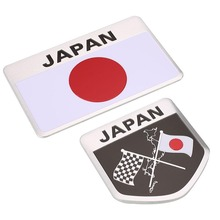 Car-Styling Japanese Flag Emblem Badge Car Sticker Car Styling Decals Accessories For Toyoto Honda Nissan Mazda Lexus Mitsubishi(China)