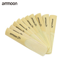 ammoon 10pcs bB Soprano Saxophone Sax Reeds 2.5 2-1/2 Bamboo Reeds Set High Quality woodwind instrument parts & accessories