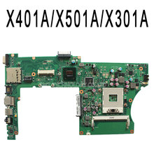 NEW original For ASUS X401A X501A X301A REV2.0 laptop motherboard HM76 SLJ8E tested Ok and Top quality in stock