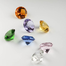20mm Quartz Crystal Glass Diamond Gems Paperweights Feng Shui Marbles Stone Crafts For Home Wedding vase Decor Favors & gifts(China)