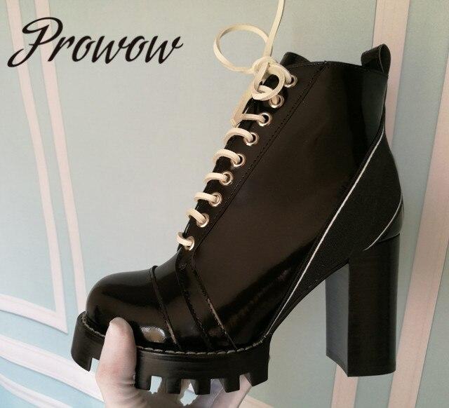 Chaussures femme cuir talon aiguille bout rond talons hauts plateforme bottines Parti Chaussures SZ