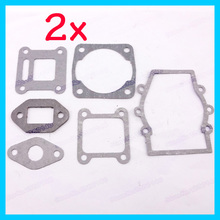 2sets/pack motorcycle Engine Gasket Set Kit Parts for 2 stroke 47cc 49cc MiniMoto Mini Dirt Pocket ATV Quad Moto Bike Motorbike(China)
