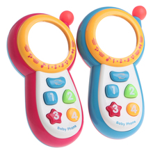 Baby Learning Study Musical Sound Cell Phone Kid Educational Mobile Toy Phone Color random delivery(China)