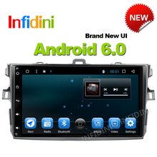 Infidini for Toyota corolla 2007 2008 2009 2010 2011 car dvd gps navigation android 6.0 car console car radio player car stereo