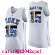 2017 Hot Sale Devils Garyson Jackson #15 Duke Blue Basketball Jerseys High Quality