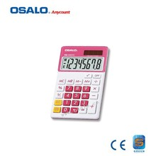 OS-280VC 8 Digit Display Plastic Calculator Dual Power Colorful Electrical LCD Screen Solar Calculadora As Student Gift