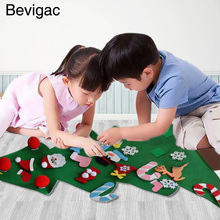 Bevigac DIY Felt Christmas Tree Decoration Xmas Party Wall Hanging Ornament for Kids Gift Home Office Shop Window Decor(China)
