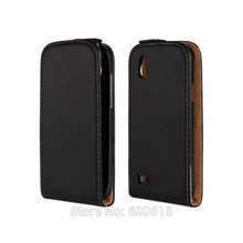 Genuine Leather Flip Case for HTC Desire X T328e  T328w Magnetic Cover  Free Shipping