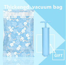 8 pcs Storage vacuum bags for clothes free hand pump storage holder Space bag Compression bag for quilt Free shipping(China)
