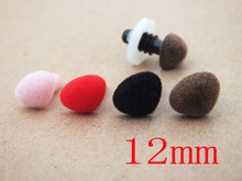 40pcs 12mm Mixed colors triangle safety nose(with washers) Diy doll toy Accessories Triangle Toy Noses For teddy bear Crafts