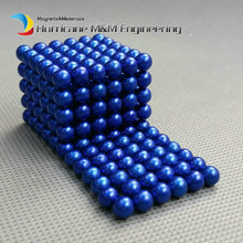 5 sets NdFeB Magnet Balls 5 mm Diameter Blue Color Strong Neodymium Sphere D5 ball Permanent Rare Earth Magnets in Gift Box