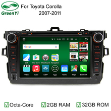 "8"" 2 Din Octa Core RAM 2GB/32GB Android 6.0 PC Car DVD GPS For Toyota Corolla 2007 2008 2009 2010 2011 With 4G WiFi Stereo Radio"