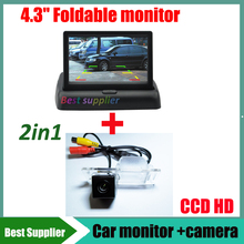 "for Chevrolet Aveo 2012 Trailblazer 2012 Cruze wagon Cadillas SRX CTS car parking rear view reverse camera + 4.3"" car monitor"
