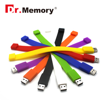 32GB Pen Drive 4g 16gb USB Pendrive 128mb U Disk bracelet memory stick cheap USB Flash Drive silicon USB FLASH DRIVE(China)