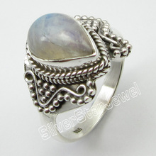 STAMPED  Silver LABRADORITE Old Style Ring Size 10.5 ! Jewelry Store