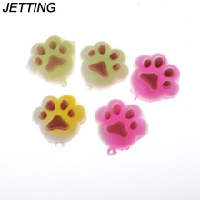JETTING New 2017 Hot Kawaii Soft Cartoon Chain Squishy Bread Puppy Footprint Cell Phone Charm Straps Random Color