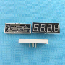 "5 pcs 4 Bit Digital Tube Common Annode Digital Tube 0.56"" 0.56in. Red LED Digit 7 Segment Display +(China)"