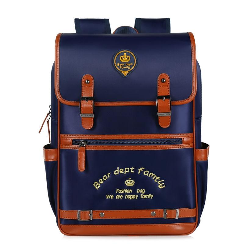 BEAR DEPT FAMILY Schoolbag 1 - 3 - 6 grade fifteen minus the burden of spine repellent water boys and girls backpack<br><br>Aliexpress