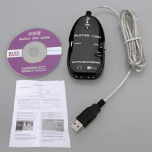 Music-S Guitar to USB Interface Link Cable Adapter MAC/PC Recording CD(China)
