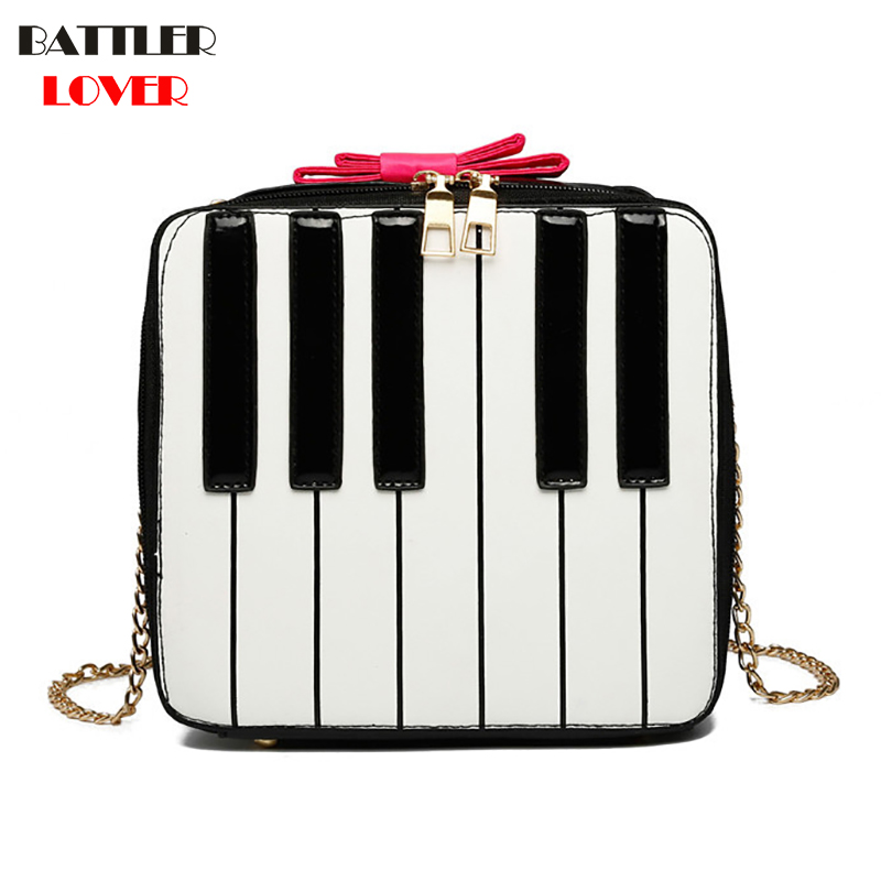 Piano Keyboard Design Womens Handbags Crossbody Bags Girls Shoulder Messenger Bag Mujer Handbag for Women 2018