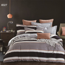 Brief black and white bedding set square printing bed clothes comforter cover brief cotton fabric wave lines 4pcs bed set B6027
