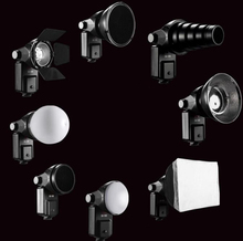 Buy 9 1 Flash Accessory Kit Reflector Softbox Honeycomb Snoot Diffuse Sphere +Universal Mount Adapter Canon Nikon Speedlite for $82.63 in AliExpress store