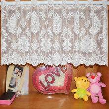 Euramerican Jacquard Short Warp Style Rural lace Yarn Knitting Curtain Kitchen Curtains for Window Shade Curtain
