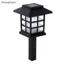 Feimefeiyou 6pcs/lot chinese eastern Lantern Style Waterproof LED Solar Landscape Light Garden Lawn Yard Park Square Decoration