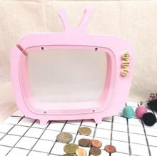 Creative Wooden Crafts New TV Piggy Bank Children's Room Decoration Birthday Kid Gift 3Colors Home Decoration E547
