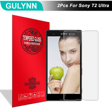 2Pcs/Lot GULYNN Amazing 2.5D 9H Tempered Glass For Sony Xperia T2 Ultra Dual SIM XM50H D5322 D5303 LCD Screen Protector Glass(China)