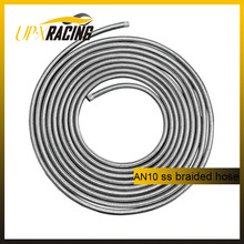 AN10 auto stainless steel braided fuel hose car stainless steel knitted oil cooler hose
