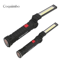 Rechargeable Portable COB LED Flashlight Work Light Inspection Lamp Hand Torch Magnetic Camping Tent Lantern With Magnet(China)