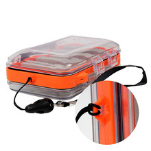 Plastic Waterproof fly fishing Double Side Clear Slit Foam fly Fishing Box FLY BOX Tackle Case Box Outdoor