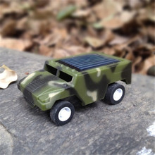 Newest Solar Power Energy DIY Assembly Hummer Camouflage Mini Soalr Car Scientific Educational Solar toy Christmas Gift Boys(China)