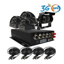 Free Shipping 4CH SD 3G GPS Trck Car DVR H.264 MDVR Audio Video Recorder Kit + Car Side Back Front Rear View CCTV Duty Camera